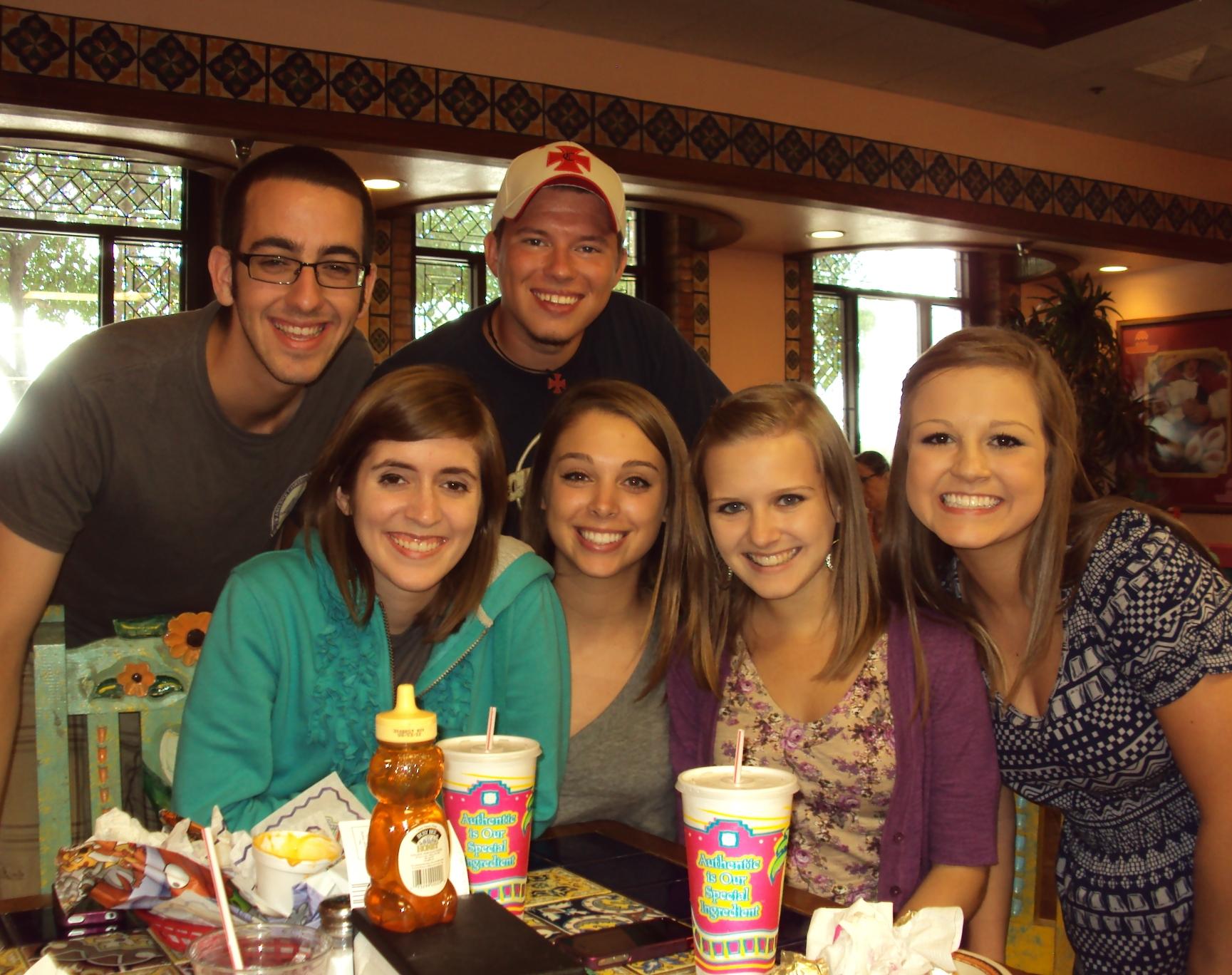 Legacy kids at ACU; good looking group!