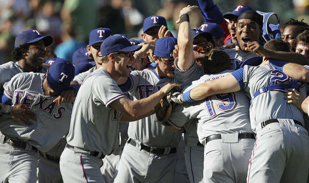 Rangers clinch their first Division Title and playoff berth since Carley was 13 days old!